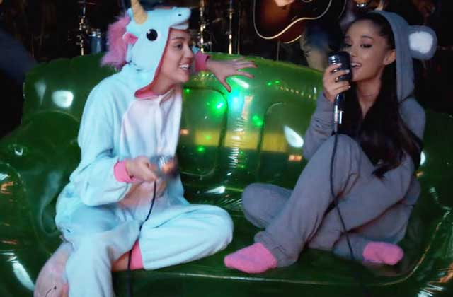 Miley Cyrus et Ariana Grande chantent en duo pour la Happy Hippie Foundation