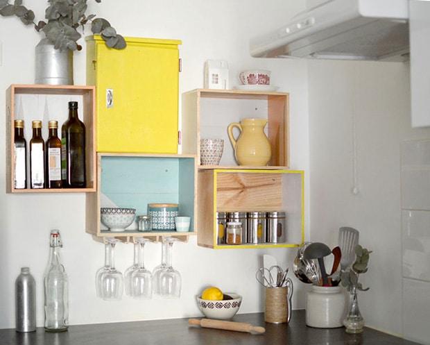 DIY_caisses_vin_étagères_cuisine