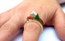 Des bagues modulables en bois pour créer des paysages – Idée cadeau cool