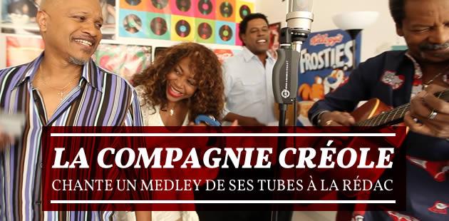 La Compagnie Créole chante un medley de ses tubes à la rédac