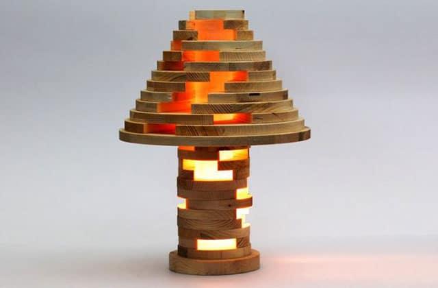 La lampe Jenga, une veilleuse de choc à construire soi-même