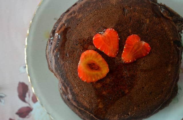 Les pancakes chocolat-noisettes — Recette pleine de douceur