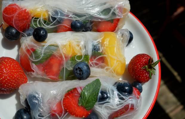 rouleaux de printemps fruits