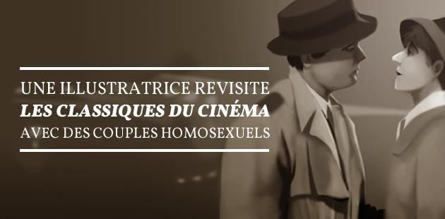 Une illustratrice revisite les classiques du cinéma avec des couples homosexuels