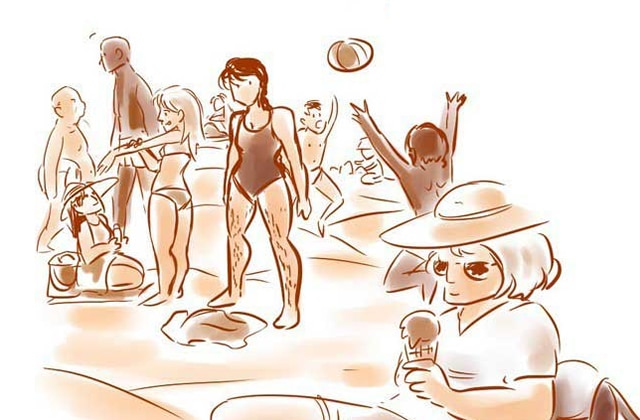L'arrivée de mes poils, la plage, les vagues… et mes complexes