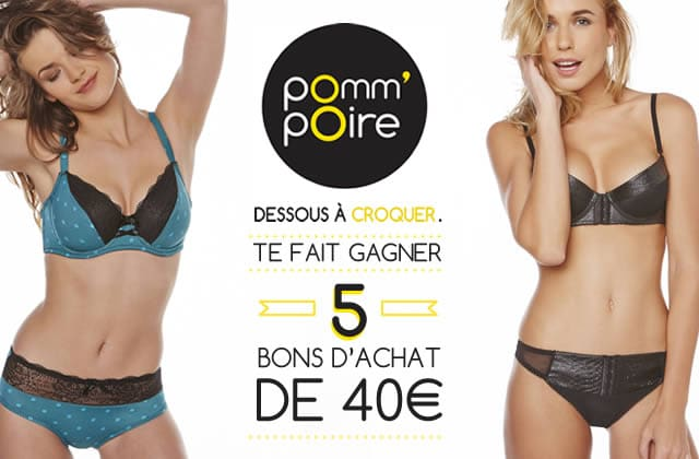 Concours Pomm'poire — Des bons d'achats à gagner pour une rentrée 2015 sexy !