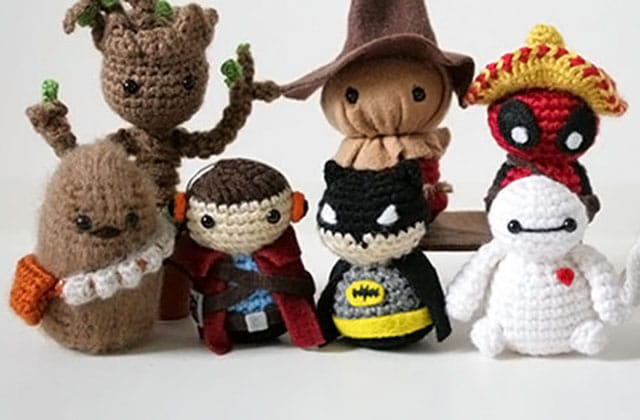 Les figurines pop culture en crochet de The Geeky Hooker