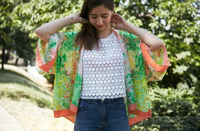 DIY — Transforme un foulard en kimono !