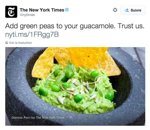 guacamole petits pois