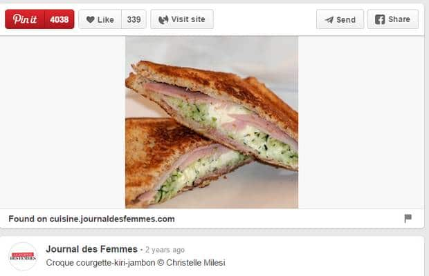 pinterest croque monsieur courgettes
