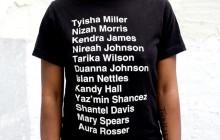Des t-shirts en hommage aux femmes noires victimes de violences