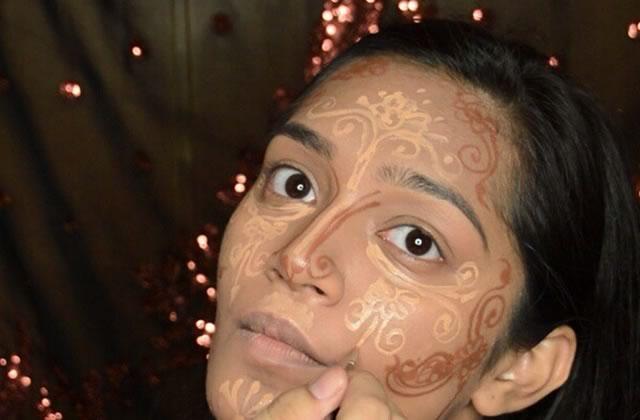 Le contouring au henné, une jolie tendance maquillage
