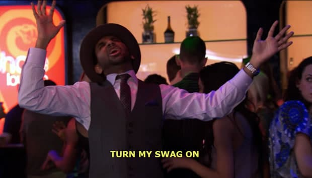 parks and rec tom swag on