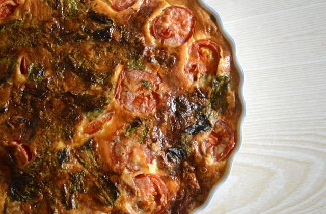 Le clafoutis tomates/gorgonzola, recette salée de l'été