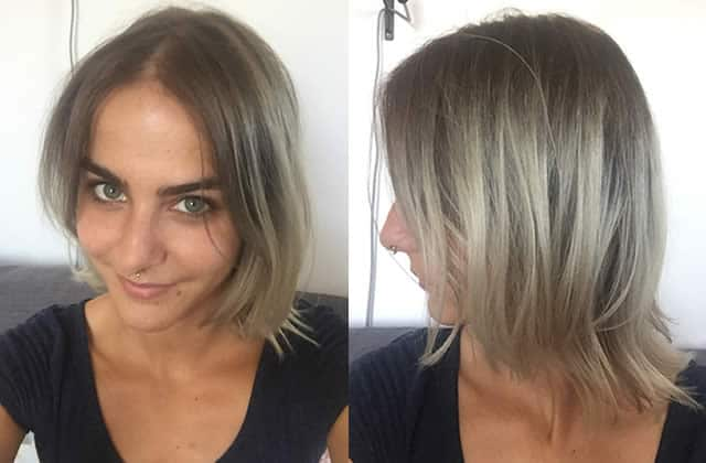 Coupe cheveux court ombre hair