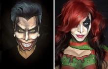 Les impressionnantes transformations d'un make-up artist en personnages de comics