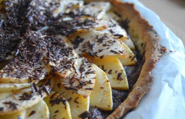 tarte pommes amandes chocolat recette