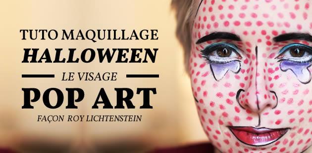 Tuto maquillage d'Halloween — Le visage pop art façon Roy Lichtenstein