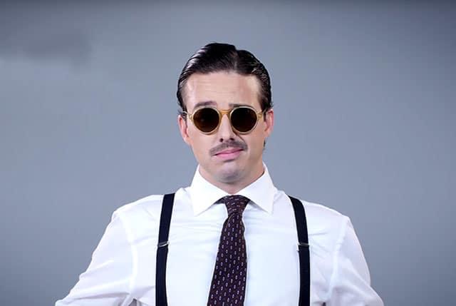 L'évolution des lunettes masculines sur 80 ans résumée en vidéo