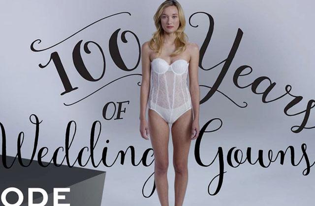 Cent ans de robes de mariées compilés dans une vidéo