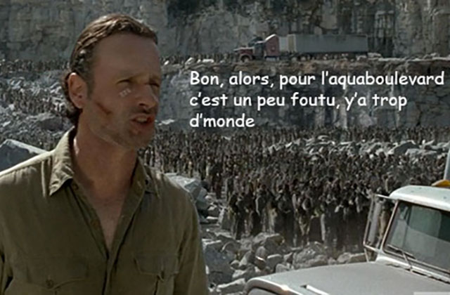 The Walking Dead S06E01 — Le récap (rigolo)