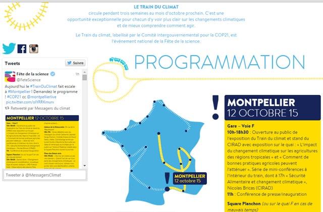 Le Train du Climat sillonne la France pour vous sensibiliser