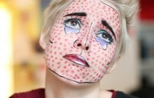 Tuto maquillage d'Halloween — Le visage pop art façon Roy Lichtenstein