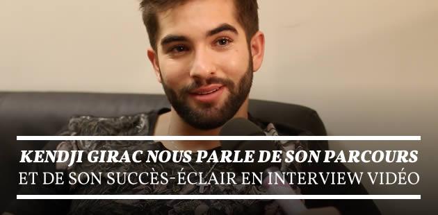 Kendji Girac nous parle de son parcours et de son succès-éclair en interview vidéo