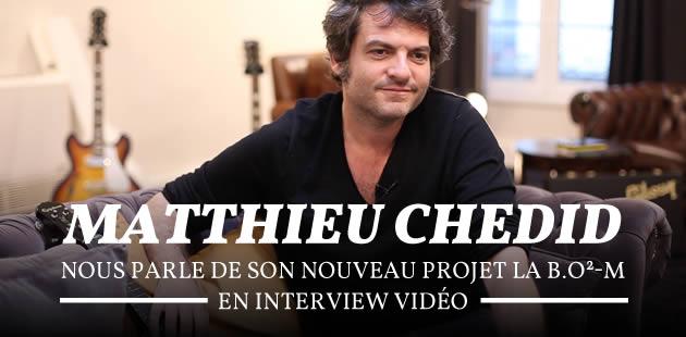 Matthieu Chedid nous parle de son nouveau projet, La B.O²-M, en interview vidéo