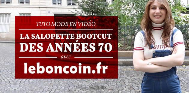 Tuto mode en vidéo — La salopette bootcut des années 70, avec Le Bon Coin