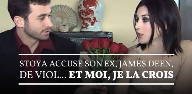 Stoya accuse son ex, James Deen, de viol… et moi, je la crois [Mise à jour]