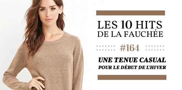 Une tenue casual pour le début de l'hiver — Les 10 Hits de la Fauchée #164