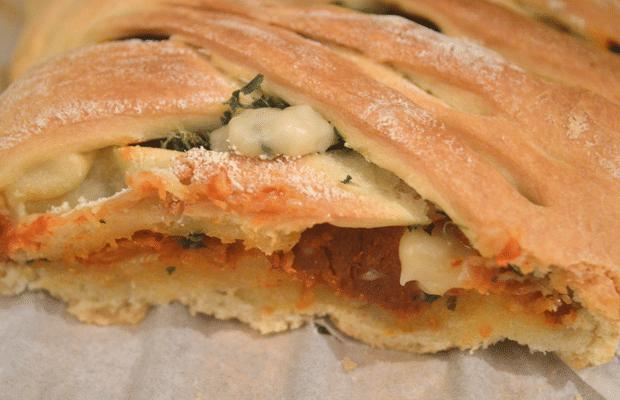 recette de pizza tressée interieur