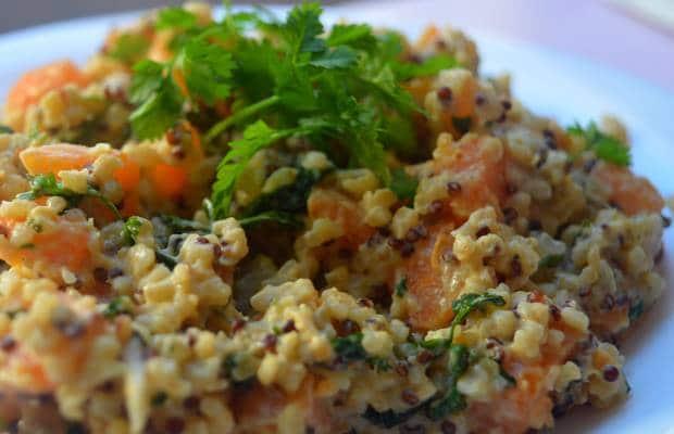 quinoa patate douce cerfeuil
