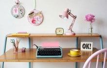 Sélection déco — Un bureau pastel