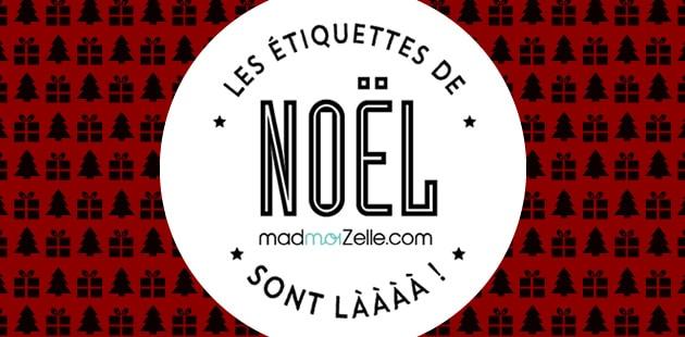 Les étiquettes de Noël 2015 madmoiZelle sont là !