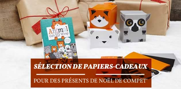 Sélection de papiers cadeaux pour des présents de Noël de compet'