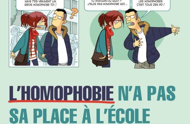 La campagne du gouvernement contre l'homophobie à l'école est lancée