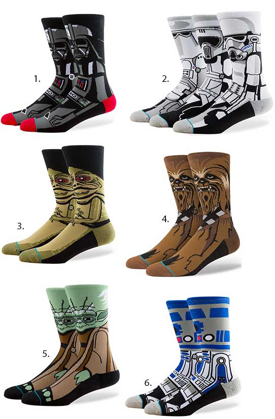 acheter en ligne a989a d32f0 Les chaussettes « Star Wars » débarquent chez Stance