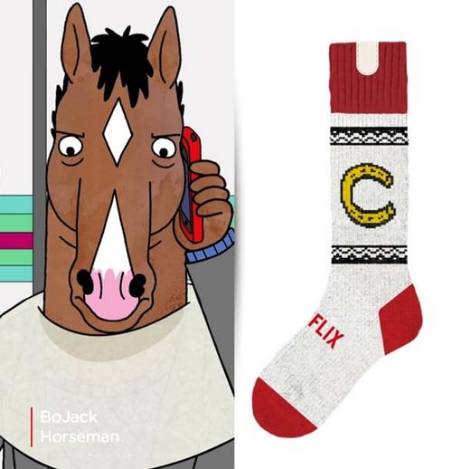 chaussette-netflix-bojack-horseman