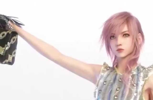 Lightning, de « Final Fantasy XIII », pose pour… Louis Vuitton !
