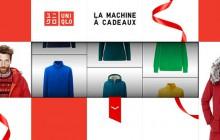 Uniqlo te fait gagner un an de shopping avec sa machine à cadeaux