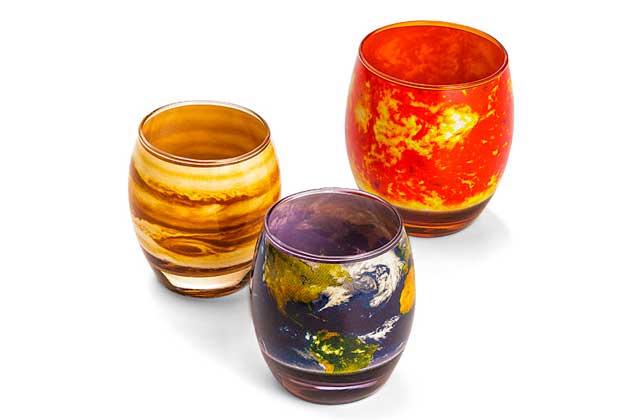 Le set de verres «système solaire»—Idée cadeau cool