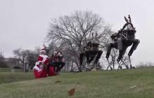 La pire carte de voeux de Noël 2015, featuring des rennes robots flippants