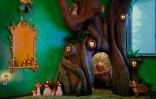 Un arbre rend magique la chambre d'une petite fille