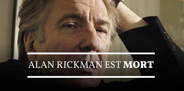 Alan Rickman est mort