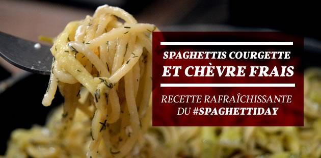 Spaghettis courgette et chèvre frais — Recette rafraîchissante du #SpaghettiDay