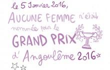 Diglee revient, en BD, sur l'absence d'auteurEs en compétition pour le Grand Prix d'Angoulême 2016