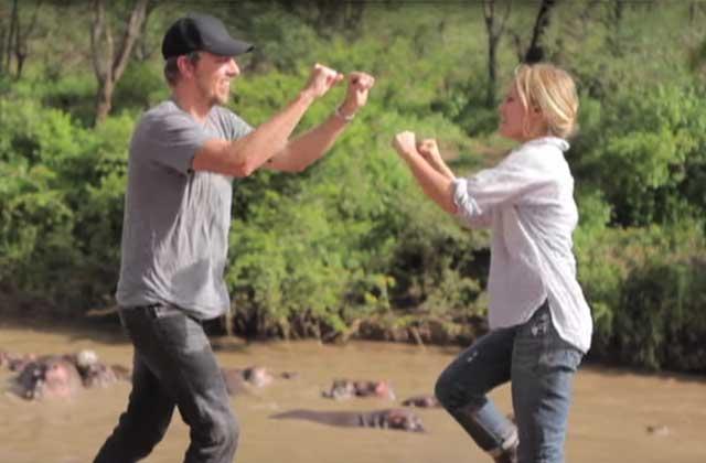 Kristen Bell & Dax Shepard présentent leurs vacances en Afrique… en musique !