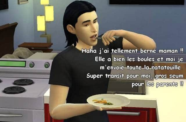 Kylo Ren l'adolescent emo, le roman photo Sims !
